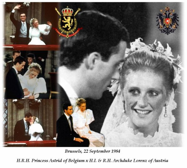 The wedding dress princess astrid of belgium archduss of austia